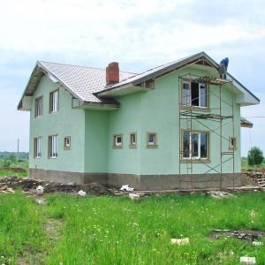Коттедж в деревне Нова, 230 кв. м., газобетон