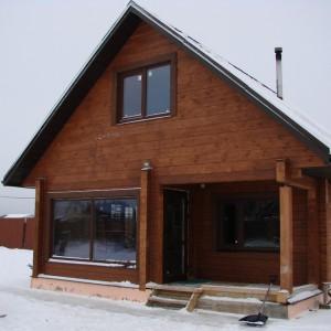 Гостевой дом-баня из профилированного бруса