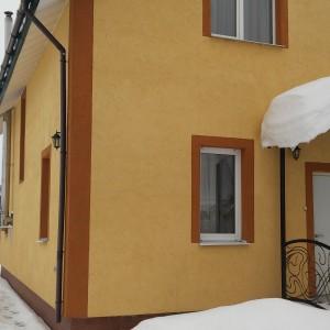 Дом из газобетона в деревне Нова