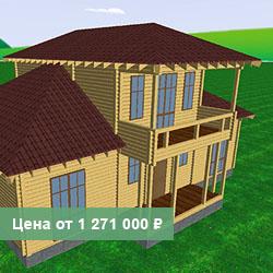 Д9: дом с мезанином 13 на 15 из профилированного бруса