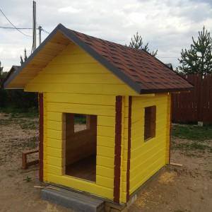 Детский игровой домик из профилированного бруса