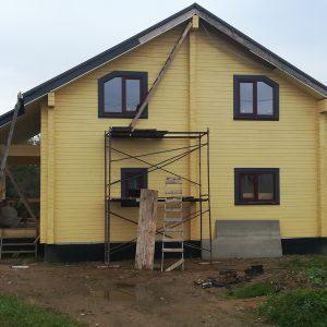 Дом из профилированного бруса в д. Шайма